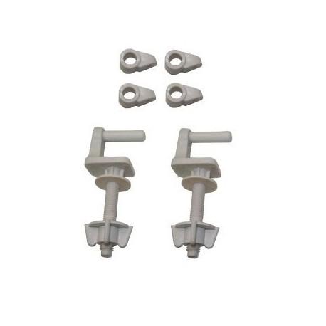 BISAGRAS NYLON AI0002900R Conjunto bisagras para asiento inodoro acetálicas (nylon) AI0002900R para el MODELO VICTORIA de ROCA.